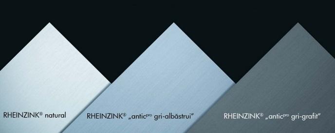 culori titan zinc Rheinzink tabla faltuita