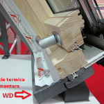 Ferestre de mansarda Roto izolatie termica suplimetara WD 150x150 Roto